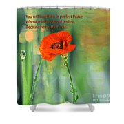 Isaiah 26 3 Of Beverly Guilliams Shower Curtain