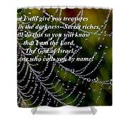 Isaiah Scripture  Shower Curtain