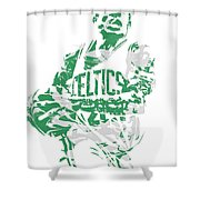 Isaiah Thomas Boston Celtics Pixel Art 15 Shower Curtain