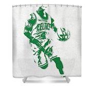 Isaiah Thomas Boston Celtics Pixel Art 2 Shower Curtain