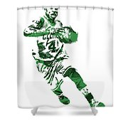 Isaiah Thomas Boston Celtics Pixel Art 5 Shower Curtain