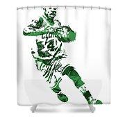 Isaiah Thomas Boston Celtics Pixel Art 5 Shower Curtain