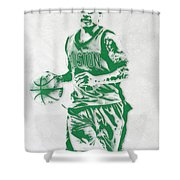 Isaiah Thomas Boston Celtics Pixel Art Shower Curtain