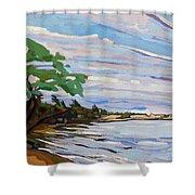 Isaiah's Beach Shower Curtain