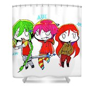 Isamu, Akane, And Amanda Shower Curtain