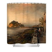 Ischia With A View Of Castello Aragonese Shower Curtain