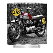 Isdt Triumph Steve Mcqueen Shower Curtain