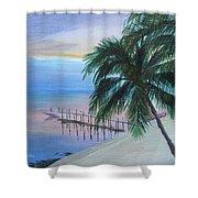 Isla Morada Sunset Shower Curtain