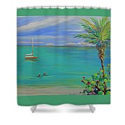 Islamorada Snorkeling Shower Curtain