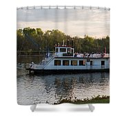 Island Belle Sternwheeler Shower Curtain