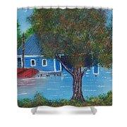 Island Boathouse Shower Curtain