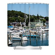 Island Boating Shower Curtain