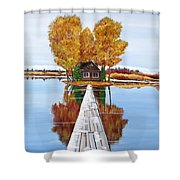 Island Cabin 2 Shower Curtain