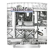 Island Cafe Shower Curtain