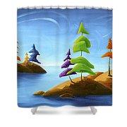 Island Carnival Shower Curtain