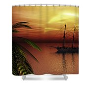 Island Explorer  Shower Curtain
