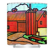 Island Ford Barn 2 Shower Curtain