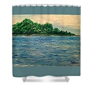 Island Getaway  Shower Curtain