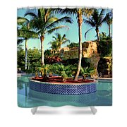 Island In Pool Shower Curtain