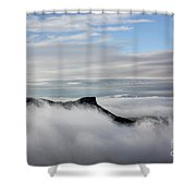 Island In The Clouds Shower Curtain