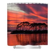 Island In The Fire Shower Curtain