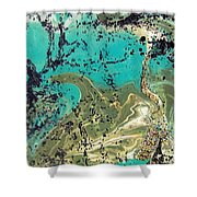 Island Lagoon Shower Curtain