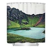Island Lake Shower Curtain