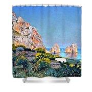 Island Of Capri - Gulf Of Naples Shower Curtain
