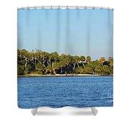 Island Off Of Cedar Key Shower Curtain