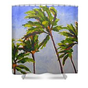 Island Palms Shower Curtain