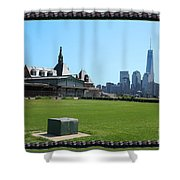 Island Park Elise Museaum Of American Immigration Journey Trip To Newyork Travel Zone America Photog Shower Curtain