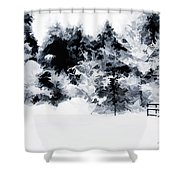 Island Park Idaho - Beyond The Gate Shower Curtain