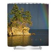 Island Rainbow Shower Curtain