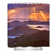 Island Rays Shower Curtain