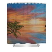 Island Reflections Shower Curtain