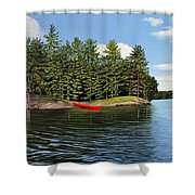 Island Retreat Shower Curtain