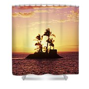 Island Silhouette Shower Curtain