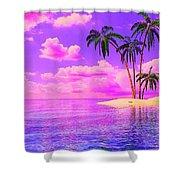 Island Sunrise Shower Curtain