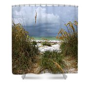Island Trail Out To The Beach Shower Curtain