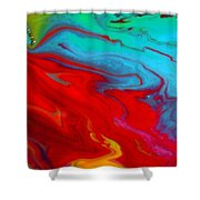 Island Tropicale Diptych II Shower Curtain