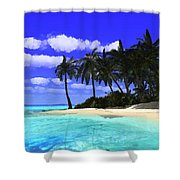 Island With Palm Trees Shower Curtain
