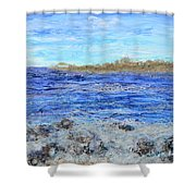 Islands And Surf Shower Curtain