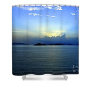 Islands In The Sunrise Tropical Paradise Shower Curtain