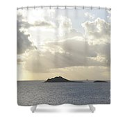 Islands Like Camels Crossing A Watery Desert  Shower Curtain