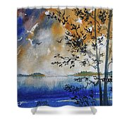 Islands Of Lake Michigan Shower Curtain