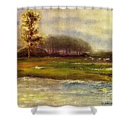 Islands On The River Shower Curtain