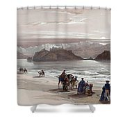 Isle Of Graia Gulf Of Akabah Arabia Petraea Feby 27th 1839 Shower Curtain