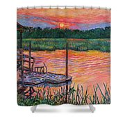 Isle Of Palms Sunset Shower Curtain