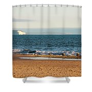 Isle Of Wight As Seen From Bournemouth Beach Shower Curtain