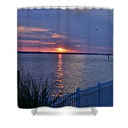 Isle Of Wight Bay Sunset Shower Curtain